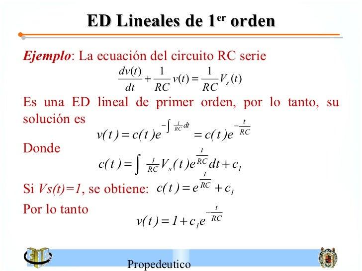 Circuito General : Ecuaciones diferenciales