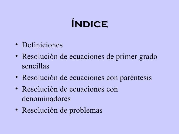 Ecuaciones 1° grado Slide 2