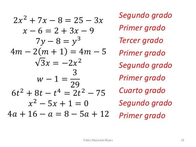 Ecuaciones introducci n for Ecuaciones de cuarto grado