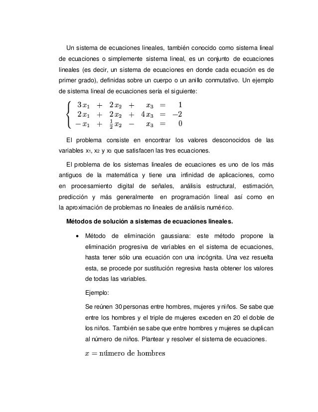 Ecuaciones lineales Slide 2