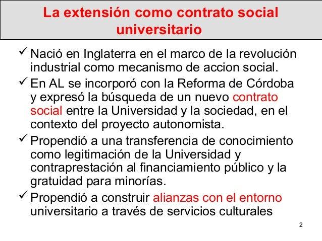 La nueva extensión social de las universidades Slide 2