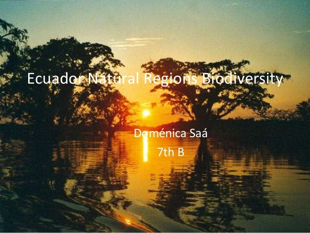 Ecuador Natural Regions Biodiversity  Doménica Saá  7th B