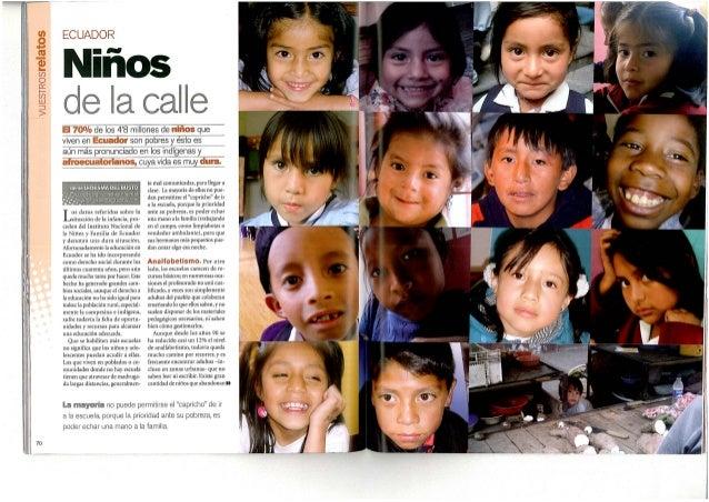 Ecuador niños de la calle niños de hoy