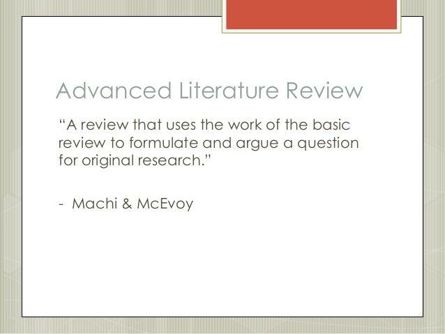 Preparing literature reviews pan 4th