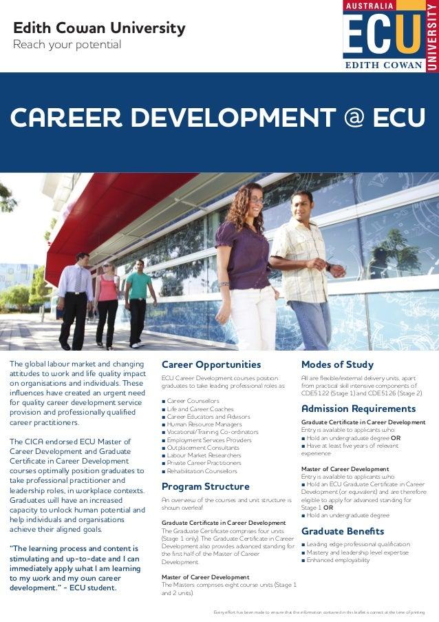 Masters Graduate Certificate In Career Development Courses