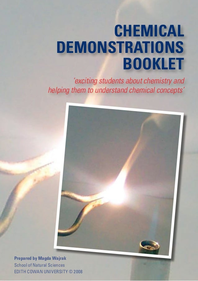 CHEMICAL                 DEMONSTRATIONS                        BOOKLET                       'exciting students about chem...