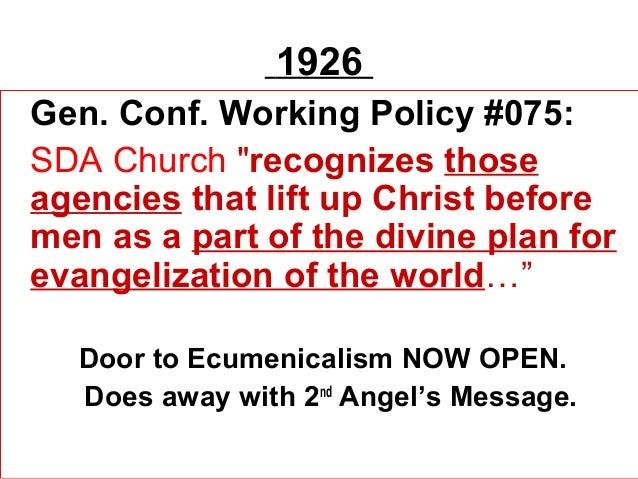 The Ecumenism in SDA Church