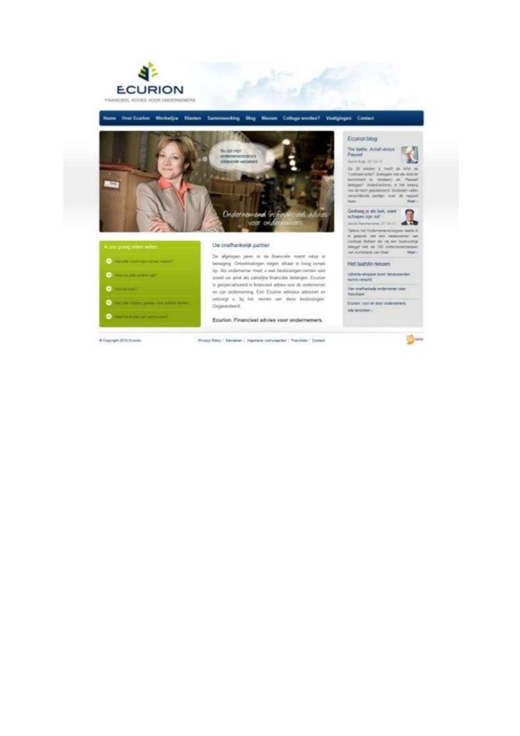 TGJ Communicatie Ecurion webteksten