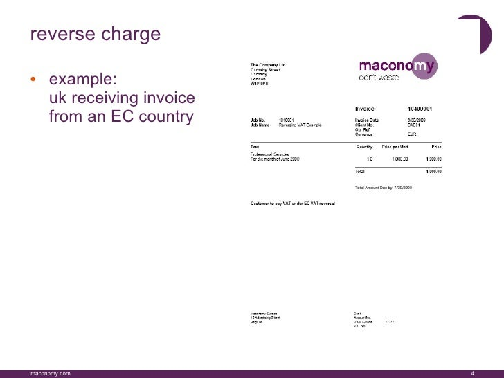 ec vat changes 2010 final, Invoice examples