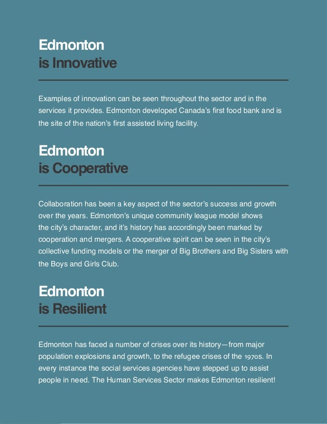 ECVO History of Edmonton's Human Services Sector