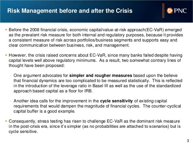 a tale of two risk measures  economic capital vs  stress