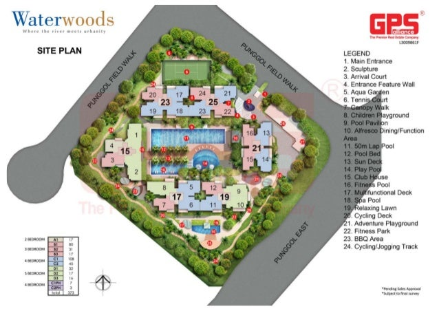 WATERWOODS EXECUTIVE CONDOMINIUM SITE PLAN