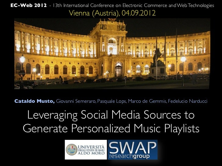 EC-Web 2012 - 13th International Conference on Electronic Commerce and Web Technologies                        Vienna (Aus...
