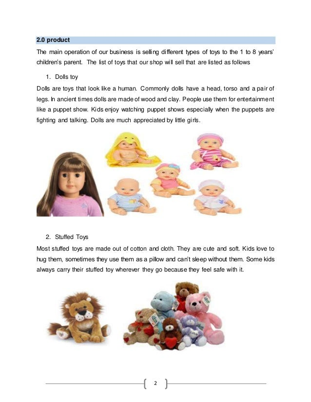 Soft toys business plan