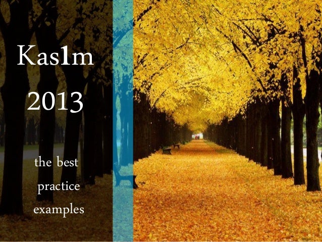 Kasım 2013 the best practice examples
