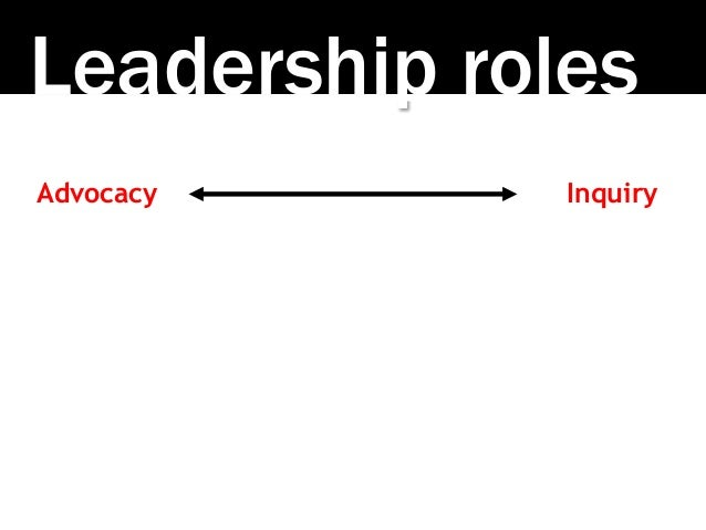 Leadership roles Advocacy Inquiry