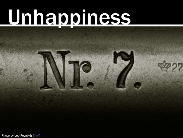 Unhappiness Photo by Leo Reynolds [link]