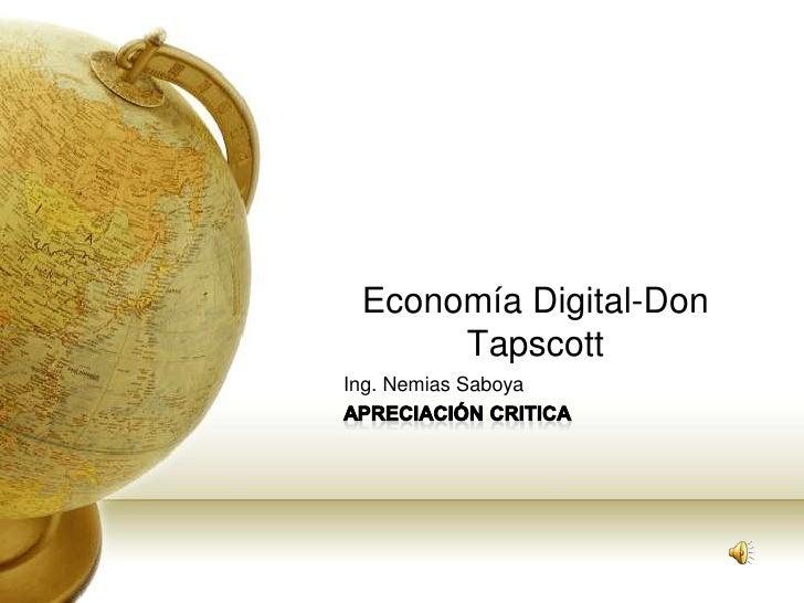 Economía Digital-Don       Tapscott Ing. Nemias Saboya