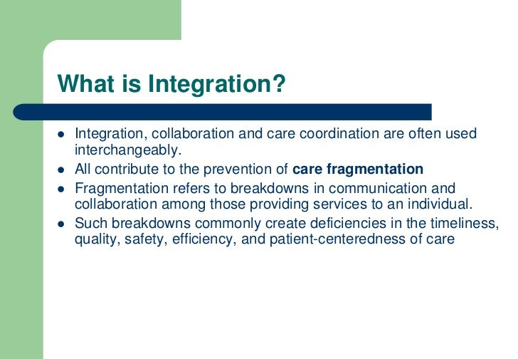 Ed Wagner Integrated Care What Are The Key Factors For