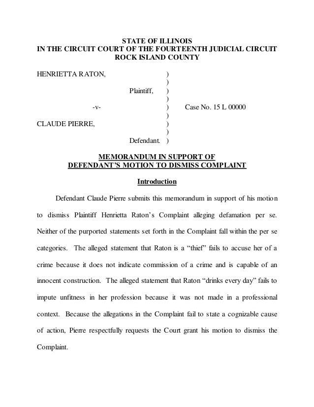 Trial Brief Defamation Per Se, Montrose