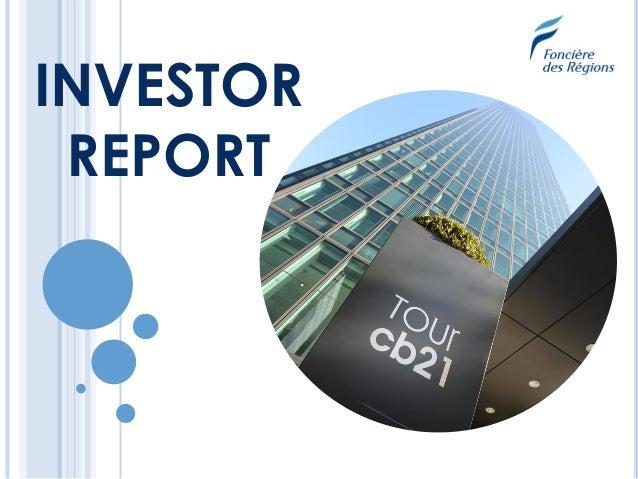 INVESTOR REPORT