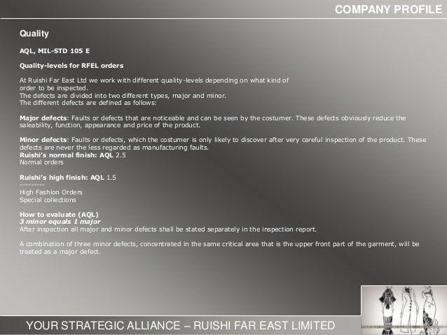 Ruishi Company Profile Garments