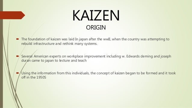 "disadvantages of kaizen The international organization for standardization defines total quality management, or tqm as ""a management approach for an organization, centered on quality, based on the participation of all its members and aiming at the long-term success through customer satisfaction, and benefits to all members of the."