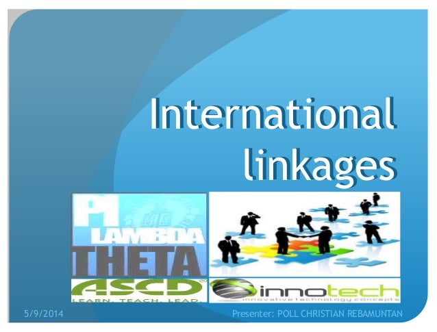 linkages and networking Networking and linkages  in the past years, the center has established linkages with organizations and companies pfizer conduct of off-center courses.