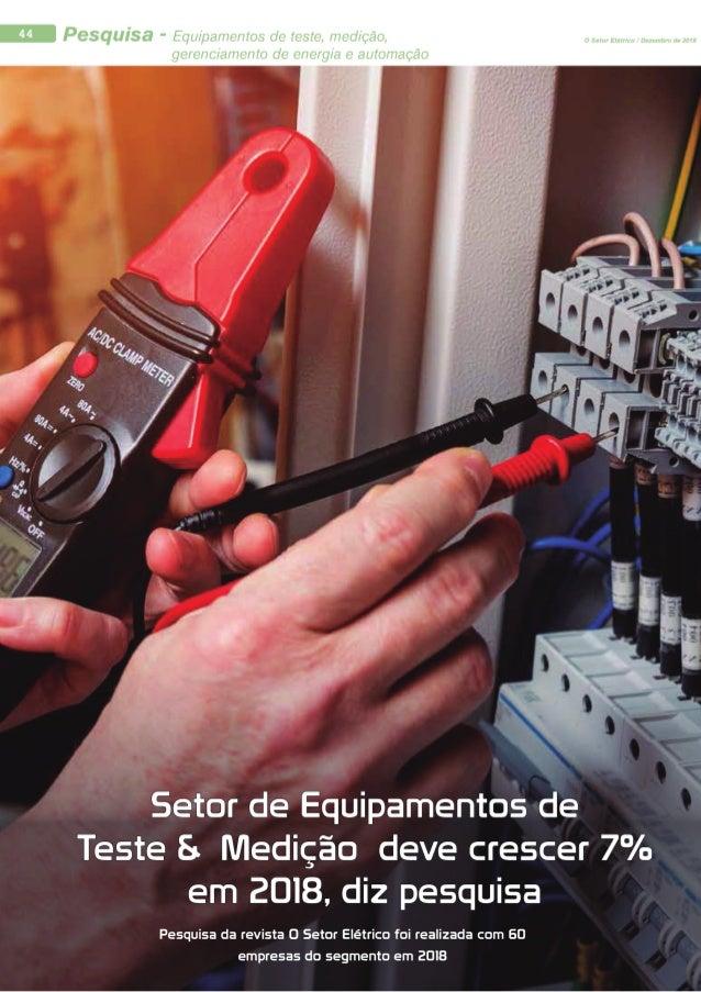 Pesquisa - Setor de equipamentos de testes, medição e gerenteciamento de energia e automação