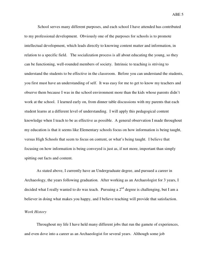 Autobiography of paper essay