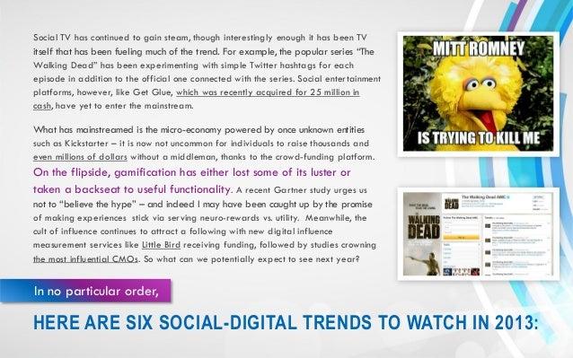 Six Social-Digital Trends for 2013 Slide 3