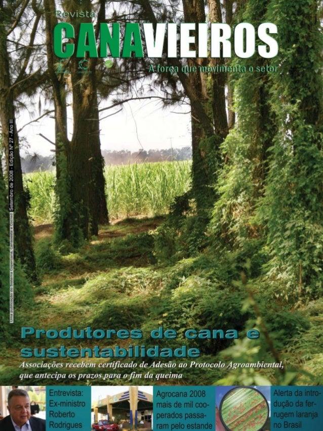 Revista Canavieiros - Setembro de 2008  1