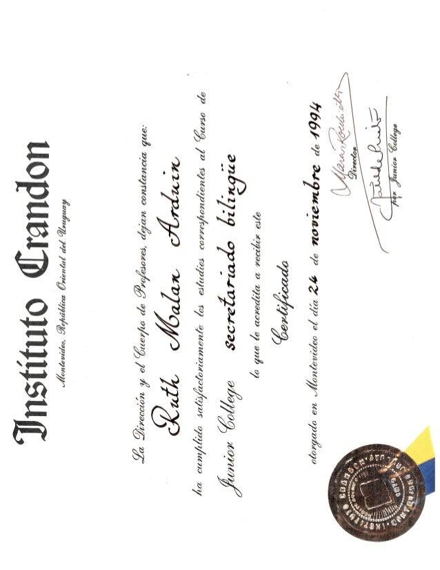 Crandon Institute Certificate-Executive Assistant