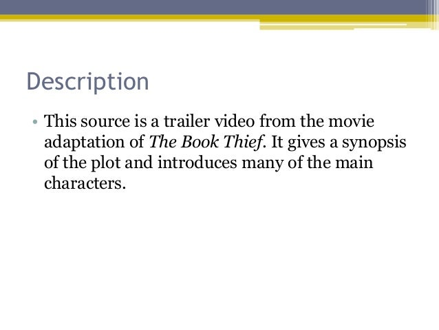 ed resource summary on the book thief 10