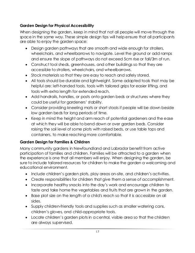 Garden Design For Families community garden best practices guide
