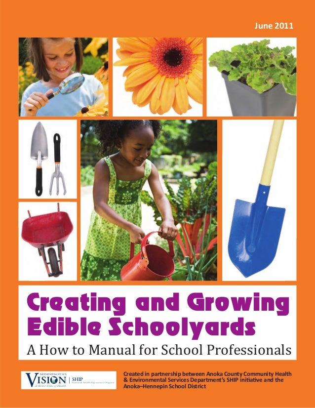 Creating and Growing Edible Schoolyards Created in partnership between Anoka County Community Health & Environmental Servi...