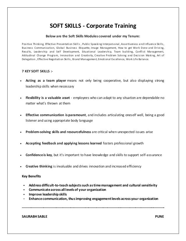 Soft Resume Resume Ways To Incorporate Soft Skills Into Your   What To Put  Under Skills