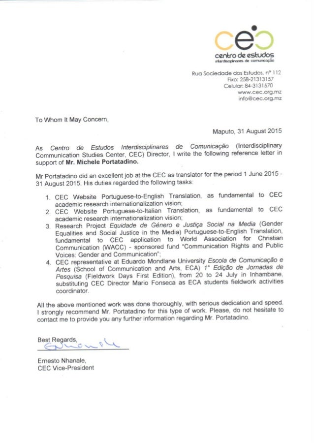 letter from ceo cec reference letter 22849