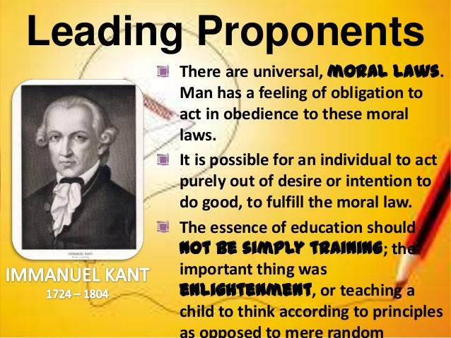 proponents of idealism