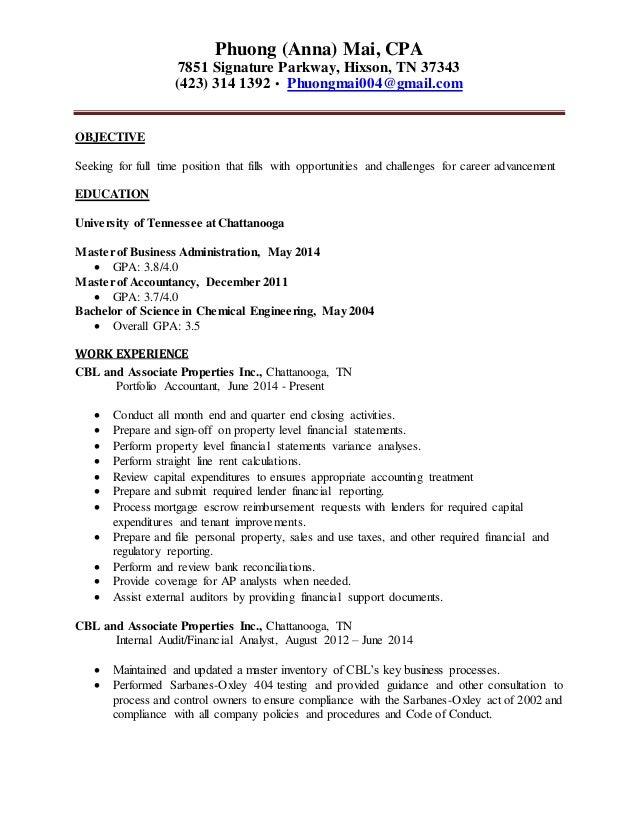 anna mai updated resume