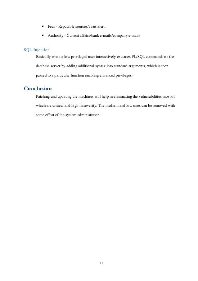 Vulnerability Assessment Report