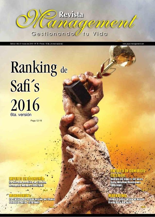 Revista Management - Gestión de Vida (Bolivia)