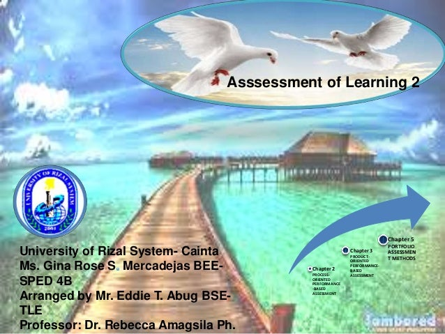 University of Rizal System- Cainta  Ms. Gina Rose S Mercadejas BEE-SPED  4B  Asssessment of Learning 2  Arranged by Mr. Ed...