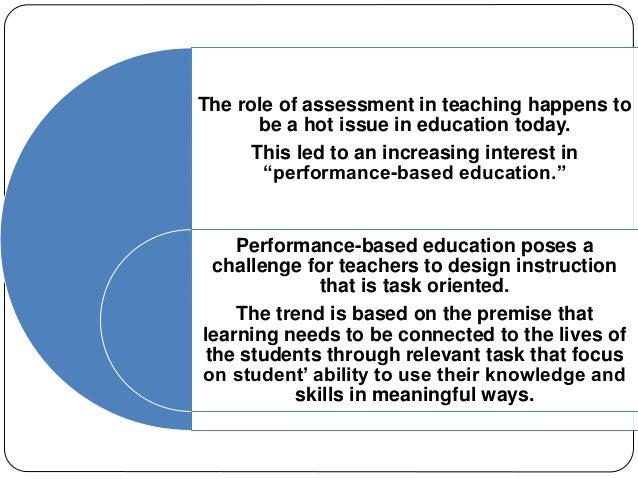process oriented performance based assessment Assessment of students learning 2  how to develop rubrics for performance-based and portfolio assessment  2 process-oriented performance-based.