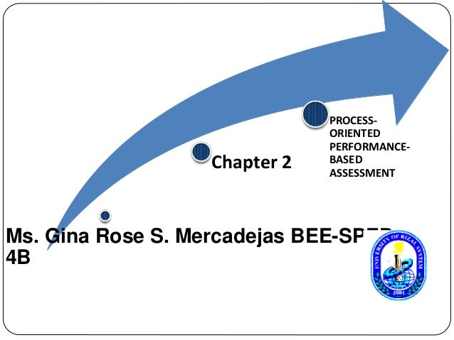 Chapter 2  PROCESS-ORIENTED  PERFORMANCE-BASED  ASSESSMENT  Ms. Gina Rose S. Mercadejas BEE-SPED  4B