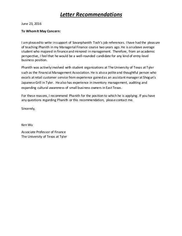 Letter Of Recommendation For Average Student from image.slidesharecdn.com
