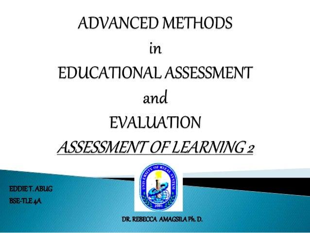 EDDIE T. ABUG  BSE-TLE 4A  DR. REBECCA AMAGSILA Ph. D.