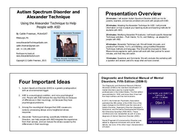 Autism and Alexander Technique_AT Congress Presentation 2015