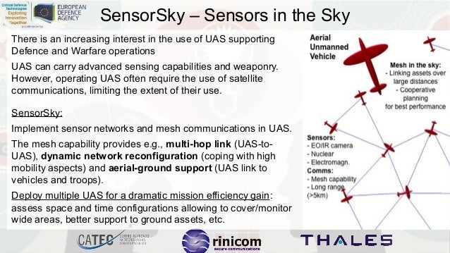 SensorSky – Sensors in the Sky There is an increasing interest in the use of UAS supporting Defence and Warfare operations...