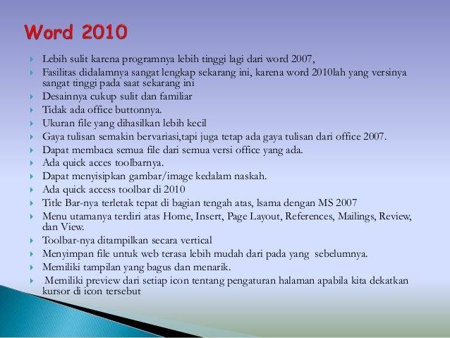 perbedaan microsoft excel 2007 dan 2010 dan 2013